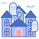 ghosts, haunted, house, park icon