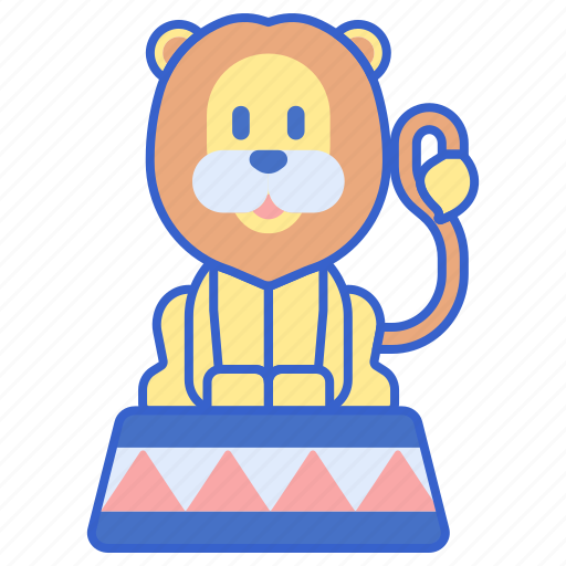 animal, circus, leon, lion, performance icon