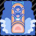 amusement, flume, log, park, ride, water icon