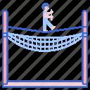 daredevil, net, safety, tightrope, walking