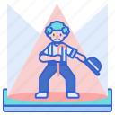 act, circus, clown, performer icon