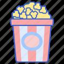 bucket, corn, pop, popcorn icon