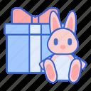 bunny, doll, present, prizes icon