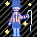 act, carnival, circus, ringmaster, whip