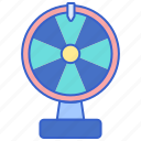 chance, luck, prizes, roulette icon
