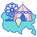 amusement, fair, location, park, state icon