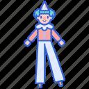 balance, clown, performance, stilts icon