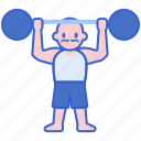 act, circus, man, muscles, strong icon