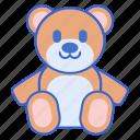 animals, bear, prizes, stuffed, toys icon