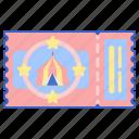 admission, enterance, pass, stub, ticket icon