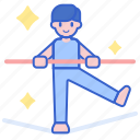 balance, daredevil, tightrope, walker icon