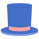 hat, magic, magician, top, top hat icon