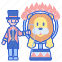 animal, fire, ring, tamer, trainer, whip icon