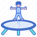 acrobat, act, circus, jumping, trampoline icon