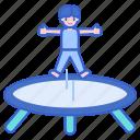 acrobat, act, circus, jumping, trampoline