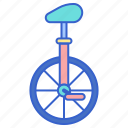 balance, cycling, performance, unicycle icon