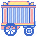 cage, cart, vehicle, wagon