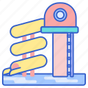 park, pool, slide, water icon