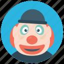 clown face, pierrot clown, pierrot joker, sad clown, sad joker icon