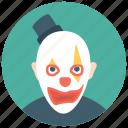 auguste clown, circus joker, clown tramp, tramp clown, whiteface clown icon