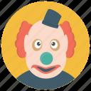 circus joker, clown gag, clown prop, joker, prank clown icon