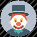 auguste clown, character clown, charlie clown, circus joker, tramp clown icon