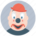 circus joker, clown character, gordoon clown, joker, producing clown icon