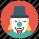 circus joker, clown character, gordoon clown, joker, producing clown