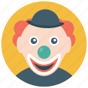 circus joker, happy clown, joker, laughing clown, walkaround joker icon