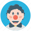 auguste clown, circus clown, circus joker, joker, tramp clown icon