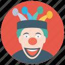 circus joker, clown gag, joker, walkaround clown, walkaround prop icon