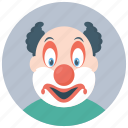 bozo clown, character clown, circus joker, clown costume, joker icon