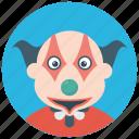 character clown, circus joker, devil clown, joker, scary clown