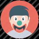 character clown, circus joker, comic joker, happy clown, joker