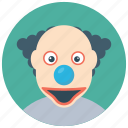 circus joker, halloween clown, joker, scary clown, whiteface clown icon