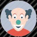 auguste clown, circus joker, theatre troupe, tramp clown, trouper clown icon