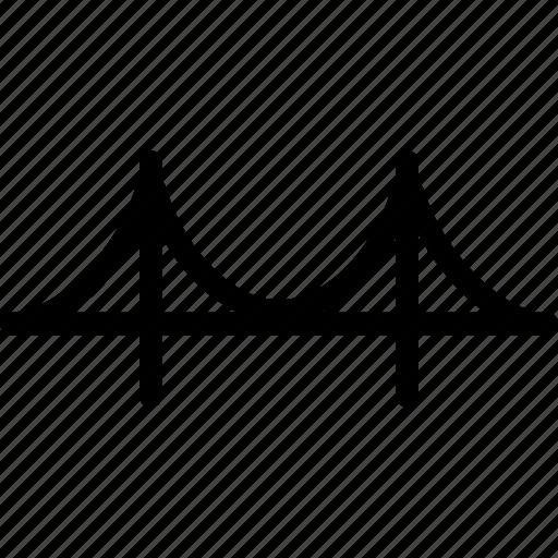architecture, bridge, river bridge, road, water icon
