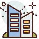 apartments, building, citylife, rural icon