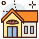 bakery, building, citylife, rural icon