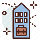 building, business, citylife, office, rural icon