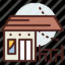building, citylife, coffee, rural, shop icon