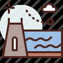 building, citylife, dam, rural icon