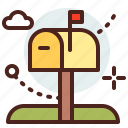 box, building, citylife, mail, rural icon