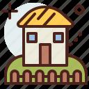 building, citylife, house, rural, village icon
