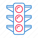 lamp, ligh, light traffic, signal, traffic icon