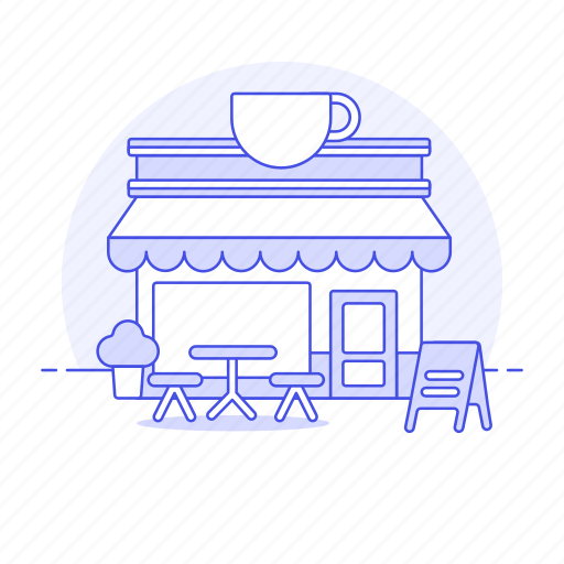 1, bar, building, cafe, cappuccino, city, coffee, drink, drinks, espresso, food, house, latte, shop icon