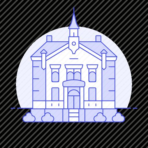 building, city, civic, council, guildhall, hall, major, municipal, public, services, town icon
