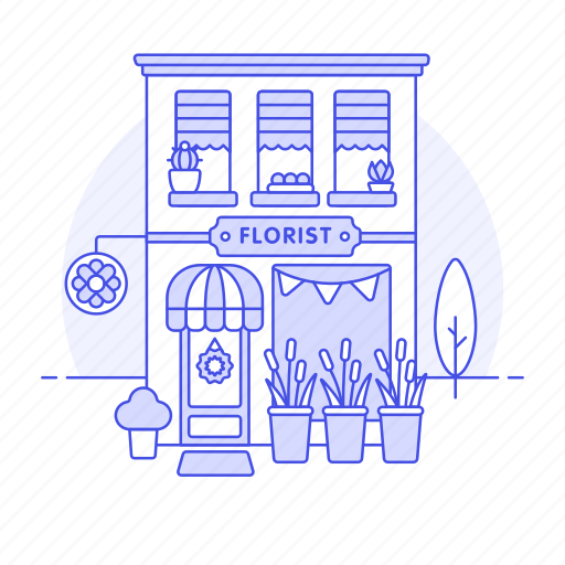 arrangement, art, building, city, design, floral, florist, flower, plant, pot, services, shop, tree icon