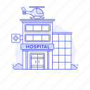 building, care, city, cross, emergency, health, hospital, institution, public, red, services icon