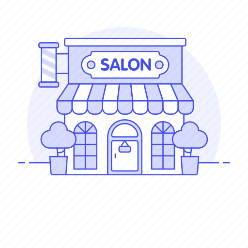 barber, beauty, building, business, city, hair, hairdressing, parlor, pole, salon, services, shop icon